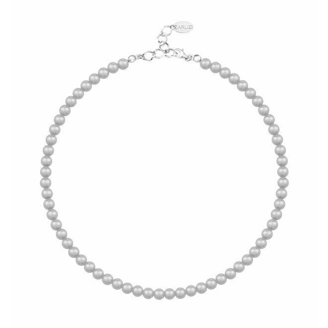 Pearl necklace light grey 6mm - sterling silver - ARLIZI 1183 - Noa