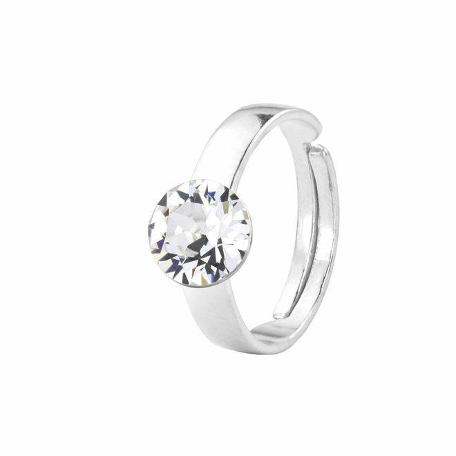 Ring Swarovski crystal - silver - 1291