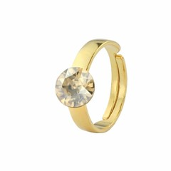 Ring Swarovski crystal - silver gold plated - 1301