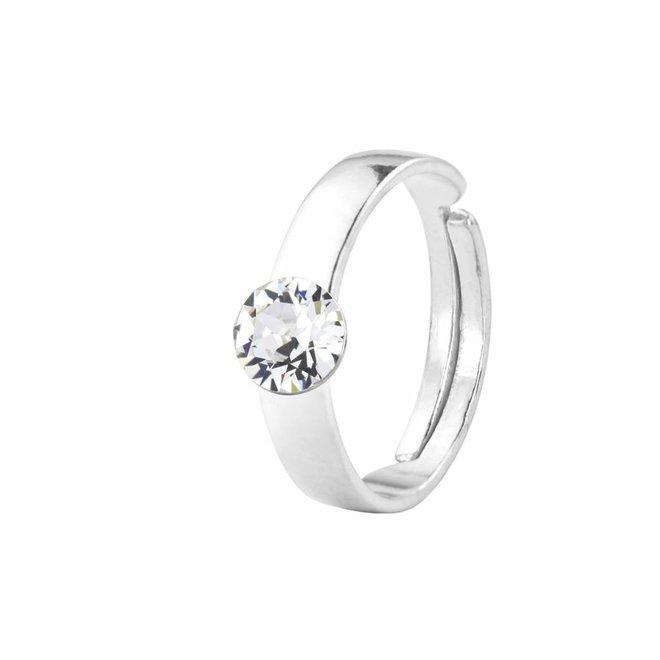 Ring Swarovski crystal 6mm - sterling silver - 1408