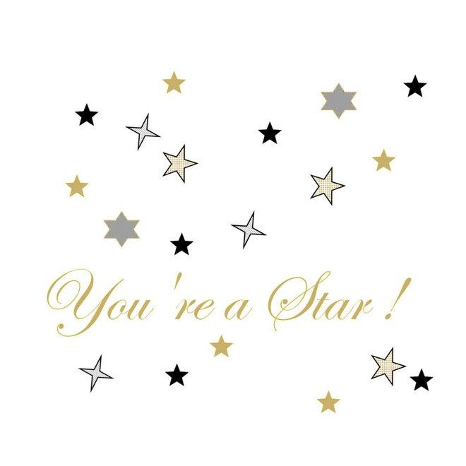 Wenskaart - you're a star