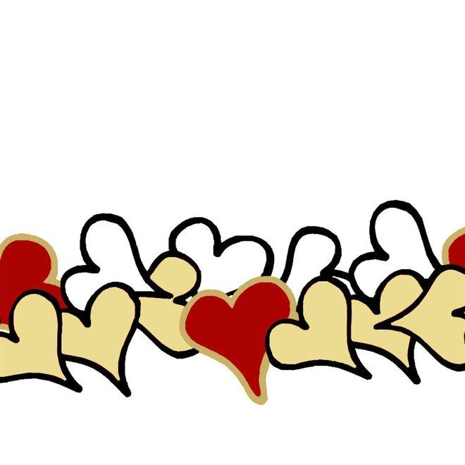 Greeting card - hearts
