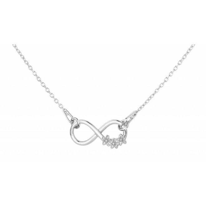 Ketting infinity hanger bloem - sterling zilver - 1316