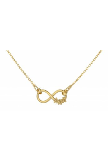 Necklace infinity pendant flowers - gold plated sterling silver - ARLIZI 1317 - Kendal