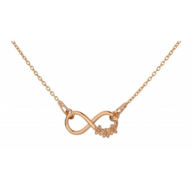 Halskette Infinity Anhänger Blumen - Sterling Silber rosé vergoldet - ARLIZI 1318 - Kendal