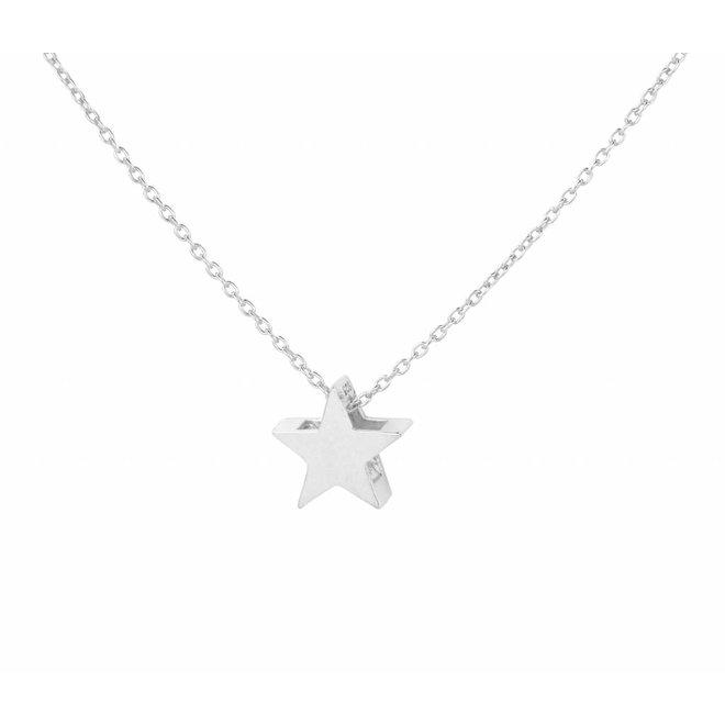 Halskette Stern Anhänger - Sterling Silber - 1443