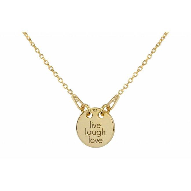 Halskette Charme Anhänger - Silber vergoldet - 1447