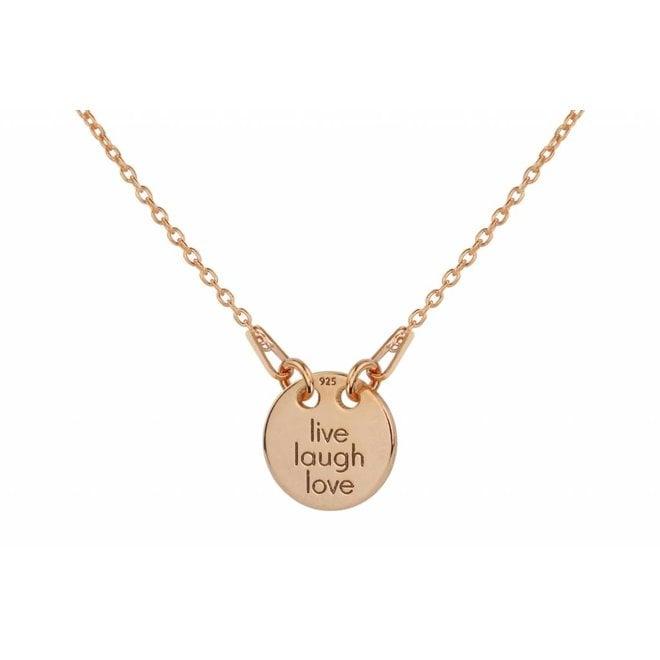 Halskette Charme Anhänger - Silber rosé vergoldet - 1448