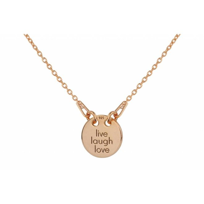 Necklace charm pendant - silver rose gold plated - 1448