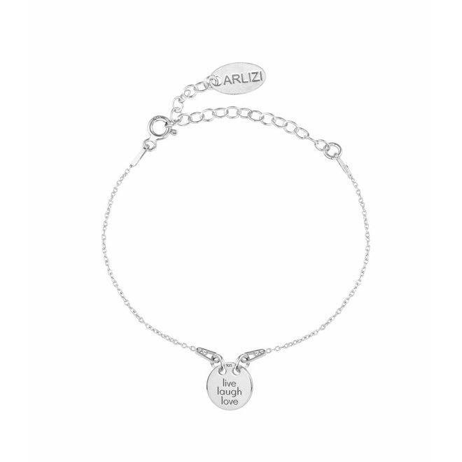 Bracelet live laugh love charm - sterling silver - ARLIZI 1449 - Kendal