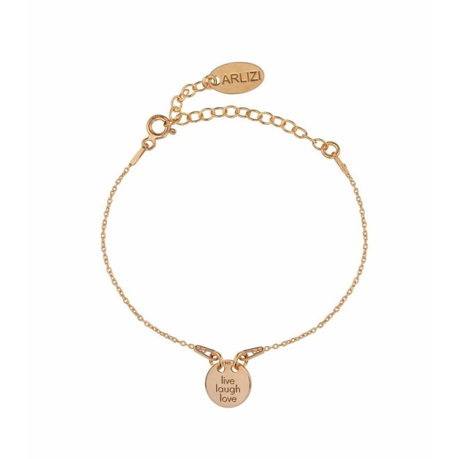 Bracelet charm - silver rose gold plated - 1451