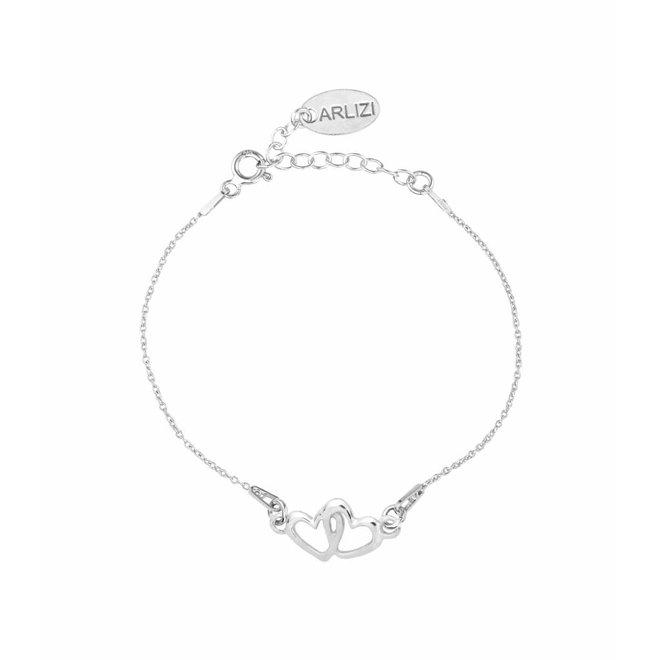 Armband hartjes sterling zilver - 1326
