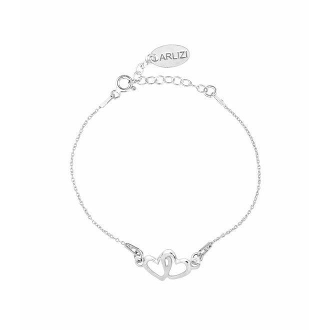 Armband hartjes - sterling zilver - ARLIZI 1326 - Kendal