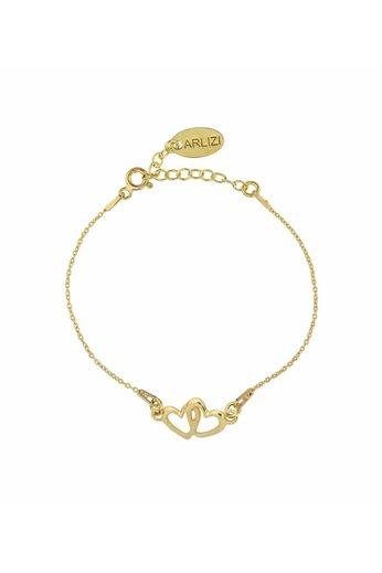 Bracelet hearts - gold plated sterling silver - ARLIZI 1327 - Kendal