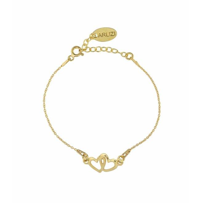 Armband Herzen sterling Silber vergoldet - 1327