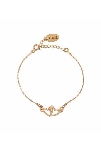 Armband hartjes - rosé verguld zilver - ARLIZI 1506 - Kendal