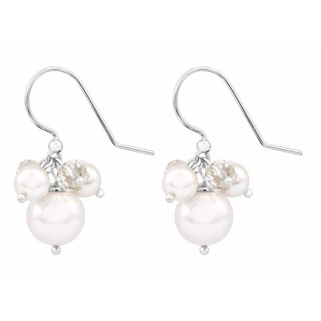 Ohrringe weiß Swarovski Perle Kristall - Sterling Silber - ARLIZI 1346 - Marla