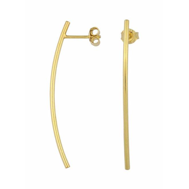 Ohrringe Bar - Sterling Silber vergoldet - 1396