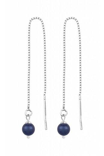 Earrings dark blue pearl - silver - ARLIZI 1508 - Emma