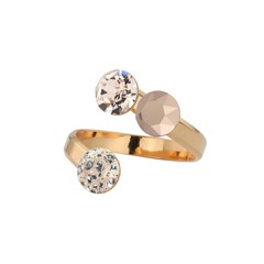 Ring Swarovski crystal - silver rose gold plated - 1473