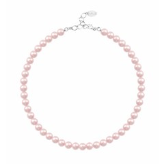 Pearl necklace light pink 8mm - silver - 1531
