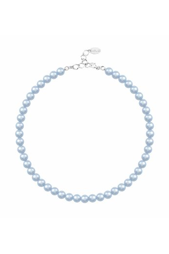 Pearl necklace light blue 8mm - silver - ARLIZI 1534 - Noa