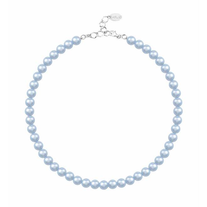 Pearl necklace light blue 8mm - silver - ARLIZI 1534 - Noa