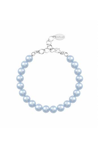 Pearl bracelet light blue 8mm - silver - ARLIZI 1533 - Noa