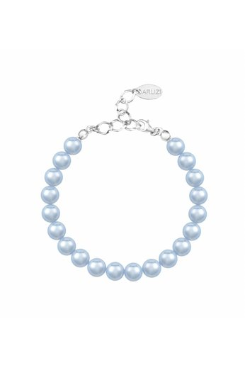Perlenarmband hellblau 8mm - Silber - ARLIZI 1533 - Noa