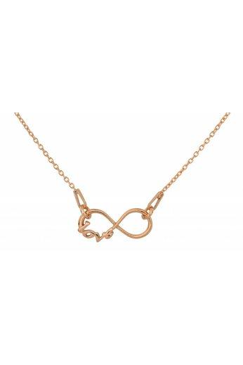 Halskette Infinity Love Anhänger - Silber rosé vergoldet - ARLIZI 1537 - Kendal