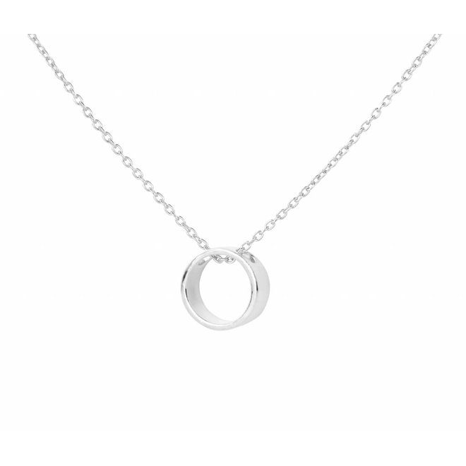 Necklace circle pendant sterling silver - 1544