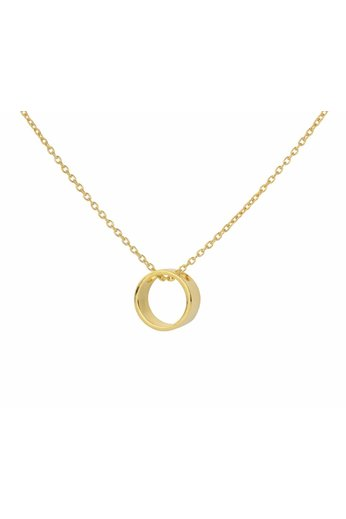Necklace circle pendant - gold plated silver - ARLIZI 1545 - Kendal