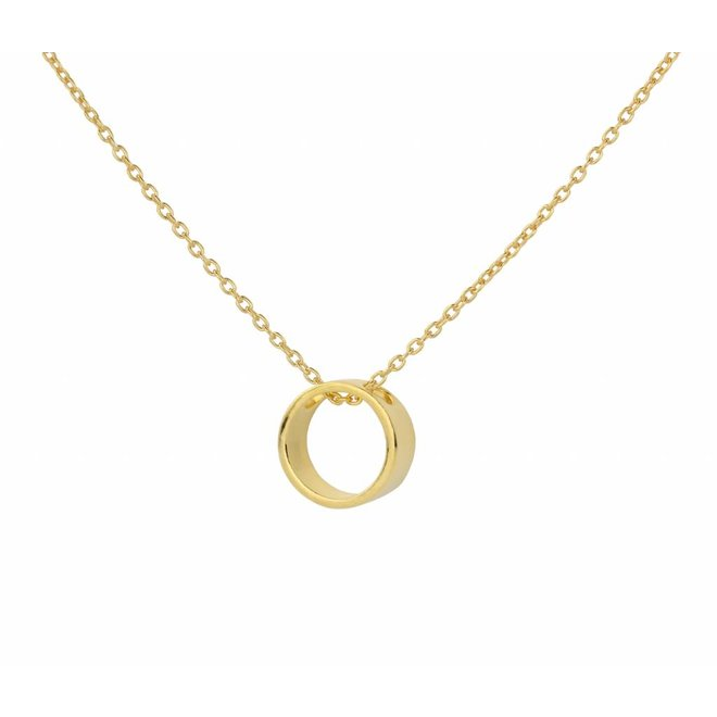 Necklace circle pendant gold plated silver - 1545