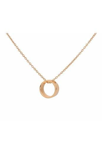 Halskette Ring Anhänger - Silber rosé vergoldet - ARLIZI 1546 - Kendal