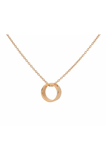 Necklace circle pendant - rose gold plated silver - ARLIZI 1546 - Kendal