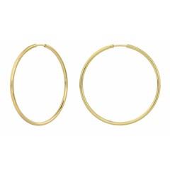 Earrings hoops - gold plated sterling silver - 1552