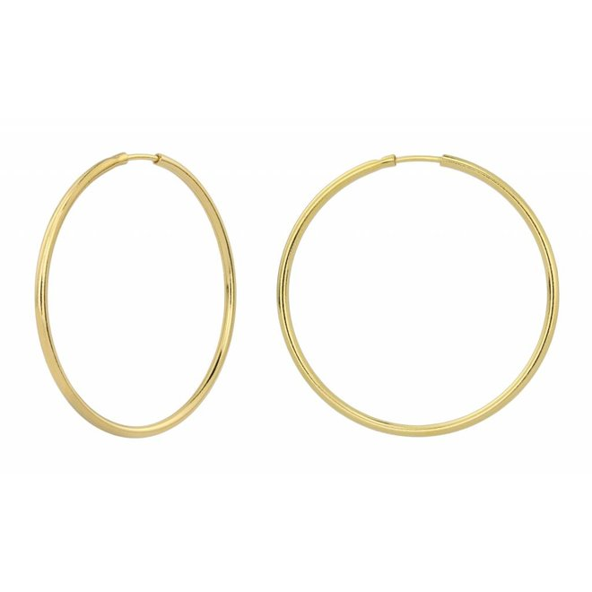 Earrings hoops - gold plated sterling silver - ARLIZI 1552 - Natalia