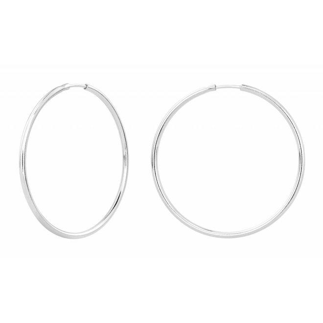 Earrings hoops - sterling silver - 1551