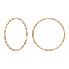 Earrings hoops - rose gold plated sterling silver - 1553