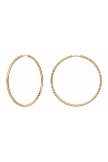 Earrings hoops - rose gold plated sterling silver - ARLIZI 1553 - Natalia