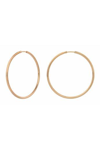 Earrings hoops - rose gold plated sterling silver - ARLIZI 1553 - Natalia