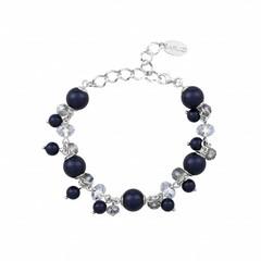 Armband blau Perle Kristall - Silber - 1348