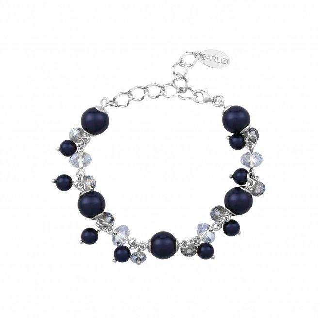 Armband blau Swarovski Perle Kristall - Sterling Silber - ARLIZI 1348 - Marla