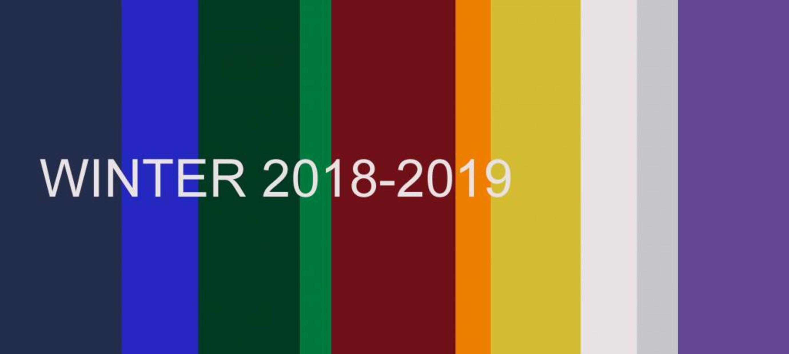 Top 10 fashion colours winter 2018-2019