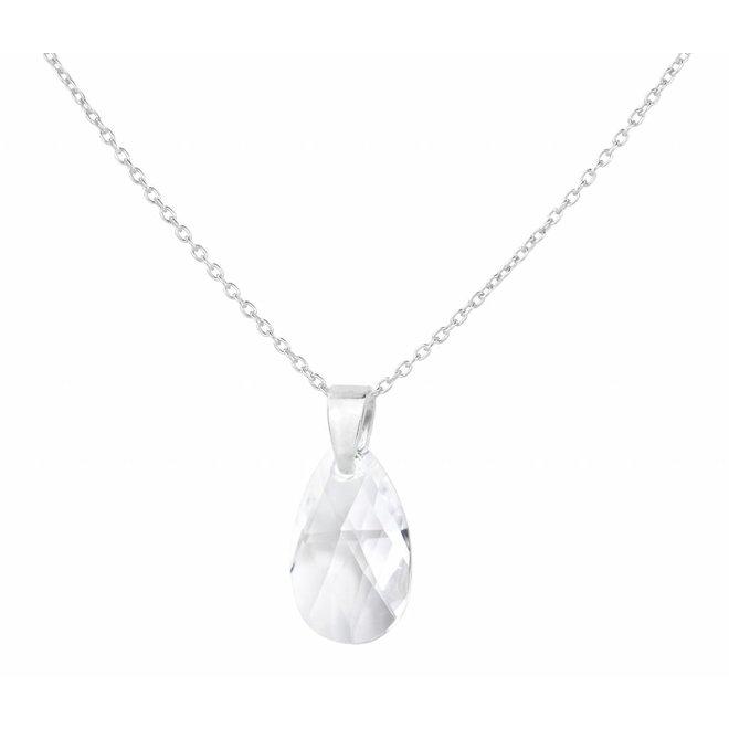 Halskette Sterling Silber Swarovski Kristall Tropfen - 1591