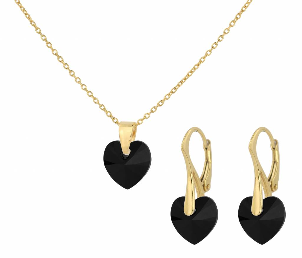 Jewelry Set 925 Silver Gold Plated
