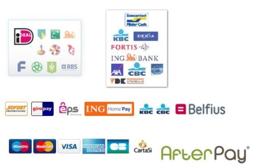Wussten Sie, dass Sie bei ARLIZI Schmuck auch bezahlen können mit: GiroPay, EPS, Belfius, ING Home'Pay?