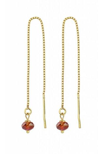 Durchzieher Ohrringe rot Swarovski Kristall - Sterling Silber verguld - ARLIZI 1632 - Emma