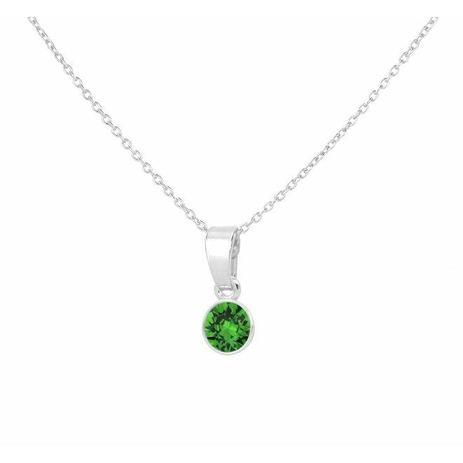 Halskette grün Swarovski Kristall Anhänger 6mm - Sterling Silber - ARLIZI 1644 - Nala