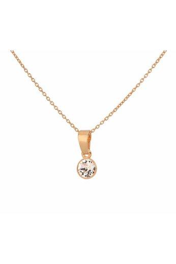 Halskette Swarovski Kristall Anhänger 6mm - Sterling Silber rosévergoldet - ARLIZI 1646 - Nala